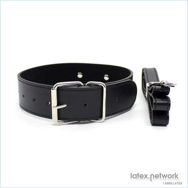 Bdsm Bondage Sex Collar With Leash Pu Leather Fetish Slave Harness Choker Necklace Restraints