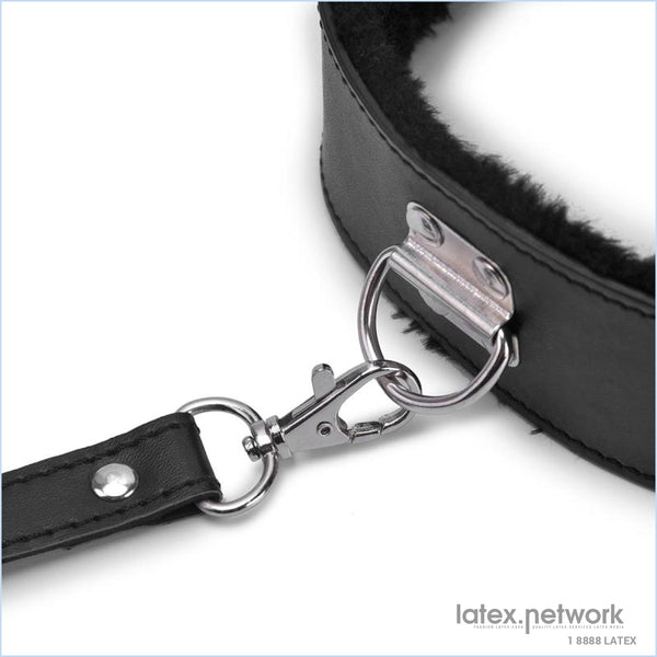 Bdsm Collar Leather And Leash Plush Fetish Bondage Sex Necklace Sm Toys Restraints For Adults Women