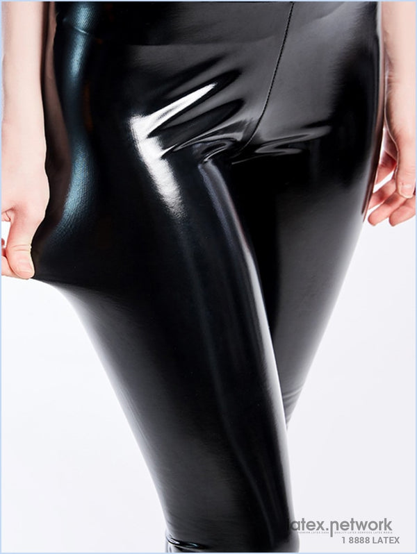Black Pu Leather Pants Women High Waist Leggings Trousers Thick Stretch Pantalon Mujer