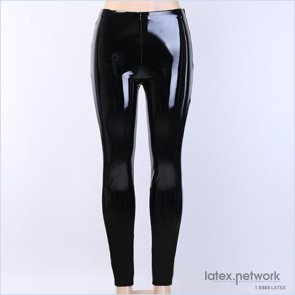 Cryptographic Pu Faux Leather Fitness Leggings Pants Gothic Punk High Waist Sexy Zipper Black Autumn