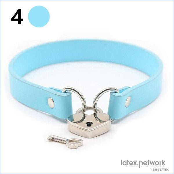 Exotic Accessories Neck Collar Bondage Slave Pu Leather Belt Lockable Adult Games Couples Toys Sex