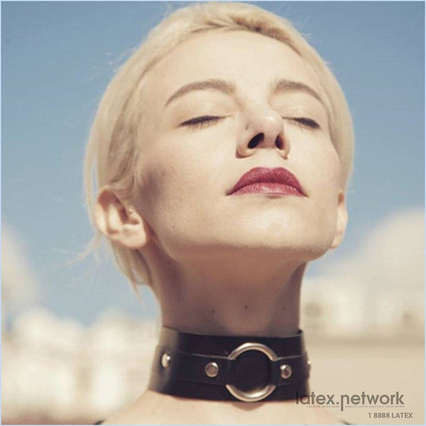 Fashion Leather Harness Collar Choker Bondage Bdsm Wedding Necklace Erotic Goth Pole Dance Neck Belt