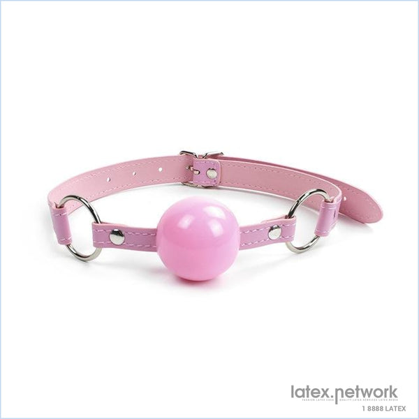 Leather Open Mouth Gag Ball Harness Restraints Erotic Games Oral Fixation Fetish Bdsm Bondage Sex