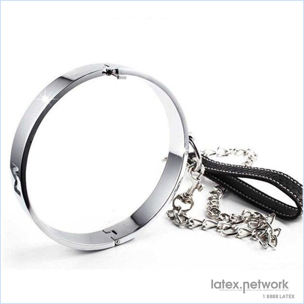 New Bdsm Toys Female Stainless Steel Metal Neck Collar With Chain Slave Role Play Necklace Fetish