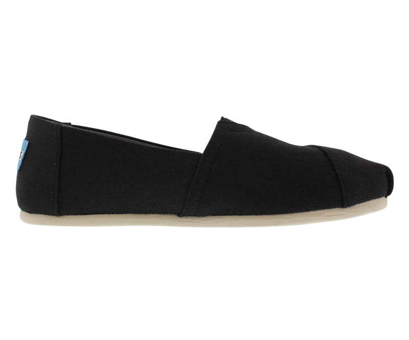 Toms Classic Black Poly Canvas