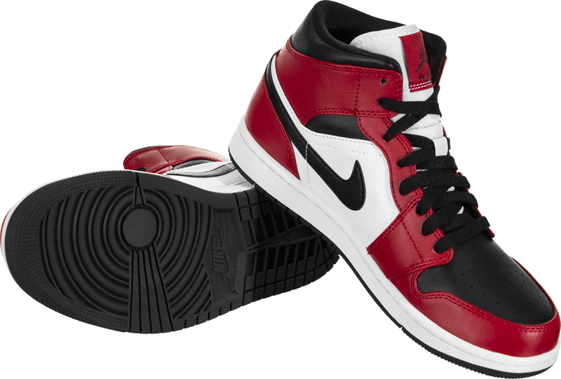 Air Jordan 1 Mid (Chicago Black Toe)