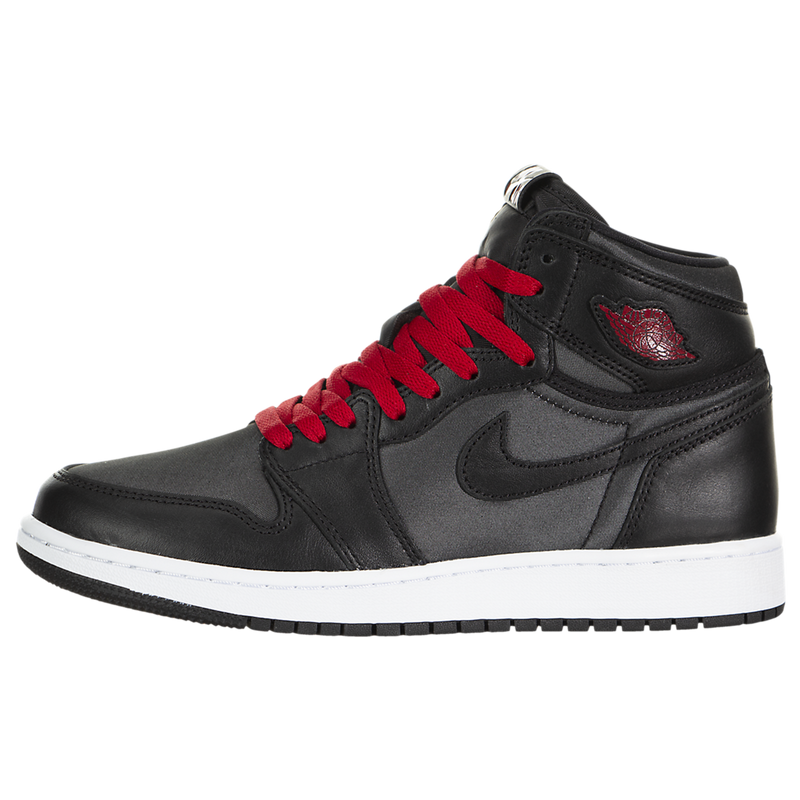 Air Jordan 1 Retro High OG (Black Satin) (Kids)