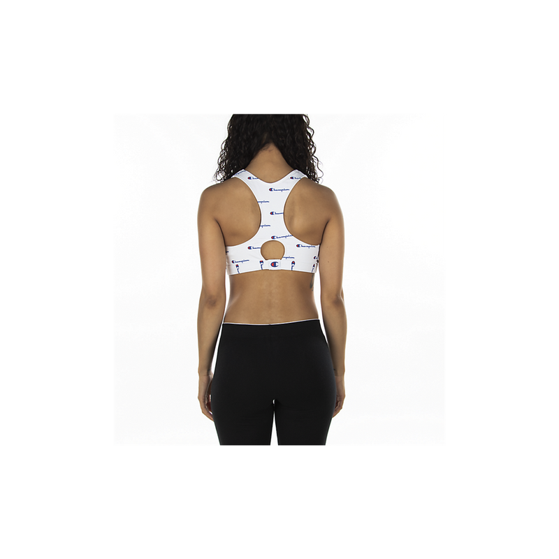 Champion Life Women's All-Over Script Logo Sports Bra