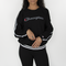 Champion Life Women's Vintage Dye Fleece Cold Shoulder Crewneck