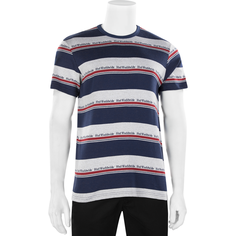 HUF Worldwide Stripe Knit T-Shirt