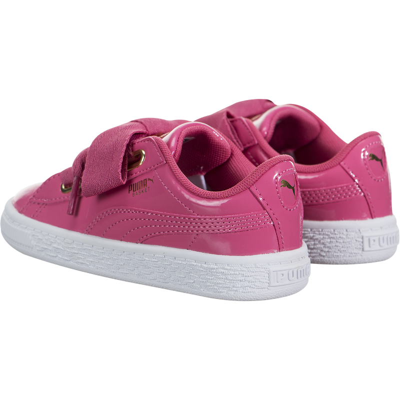 Puma Basket Heart Patent Gold (Toddler)