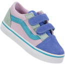 Vans Old Skool Velcro (Color Block) (Toddler)