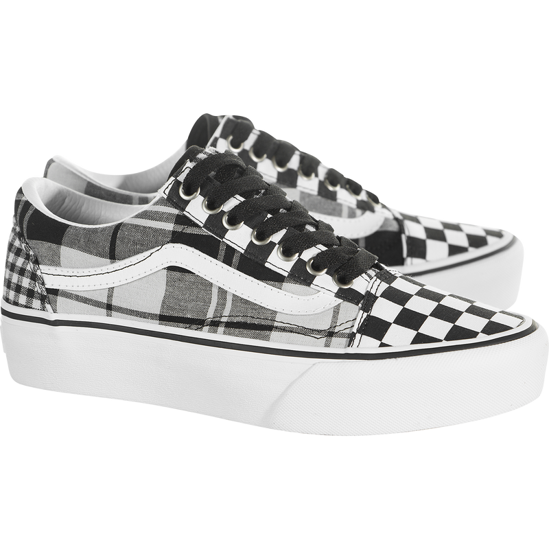 Vans Old Skool Platform (Plaid Checkerboard)