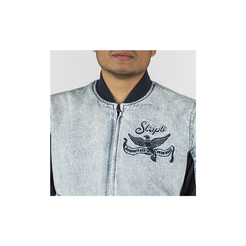 Staple Pigeon Denim Baseball Jacket