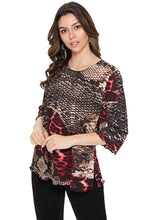 Load image into Gallery viewer, Jostar Women's BG Merrow Top Quarter Sleeve Print-158BG-QRP1-W179 - Jostar Online