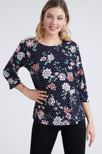 Jostar Women's Stretchy Merrow Top Three Quarter Print, 158BN-QP-W211 - Jostar Online