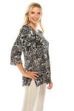 Load image into Gallery viewer, Jostar Women's Stretchy Merrow Top Three Quarter Print, 158BN-QP-W277 - Jostar Online