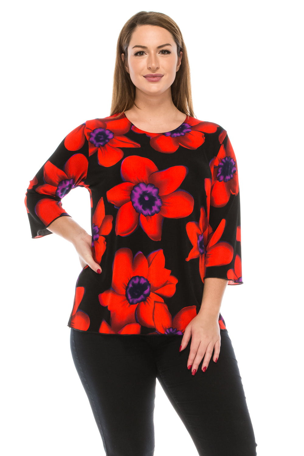 Jostar Women's Stretchy Merrow Top Three Quarter Print, 158BN-QP-W075 - Jostar Online