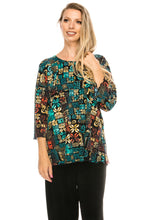 Load image into Gallery viewer, Jostar Women's Stretchy Merrow Top Three Quarter Print, 158BN-QP-W167 - Jostar Online
