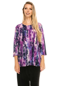 Jostar Women's Stretchy Merrow Top Three Quarter Print, 158BN-QP-W170 - Jostar Online