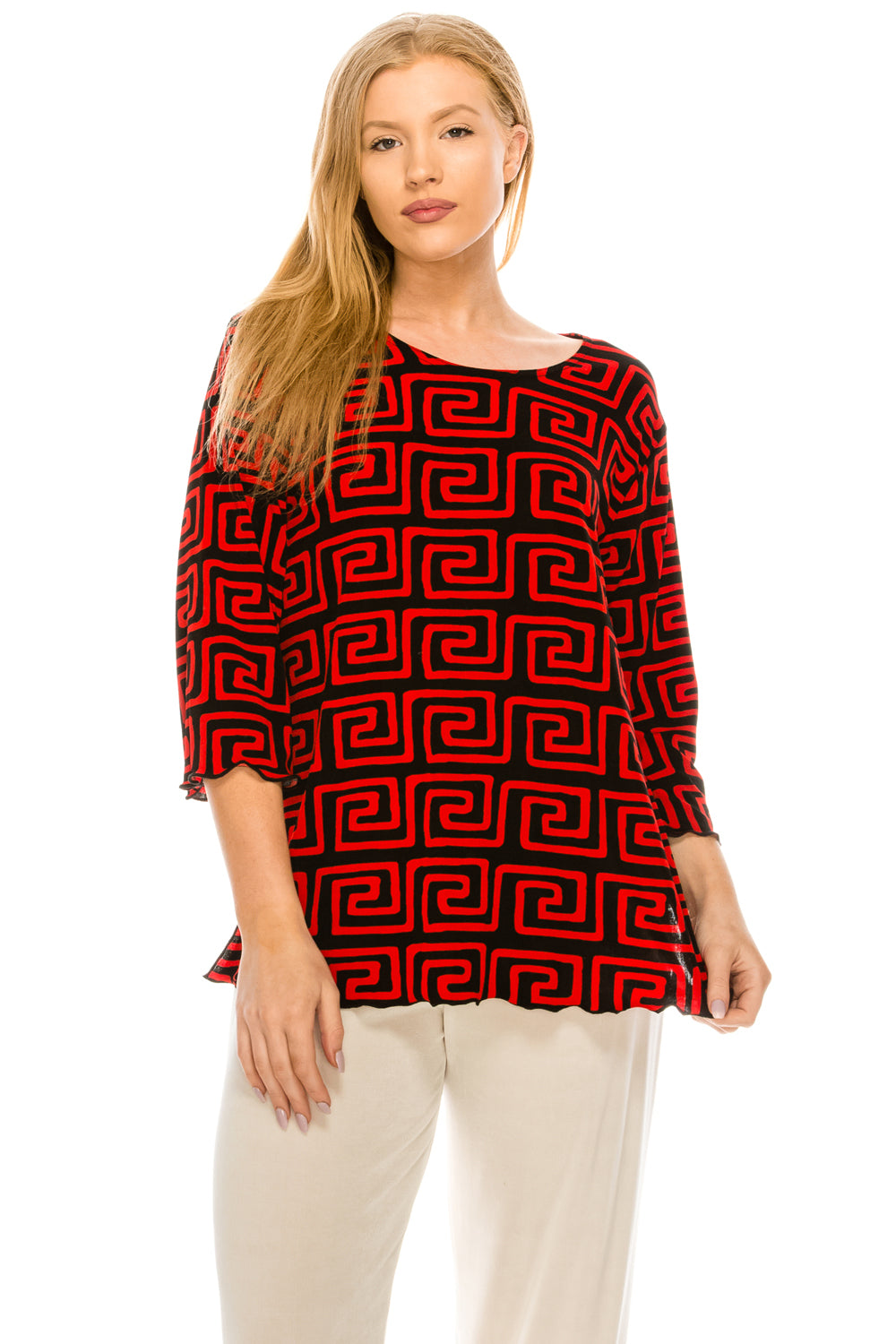 Jostar Women's Stretchy Merrow Top Three Quarter Print, 158BN-QP-W187 - Jostar Online
