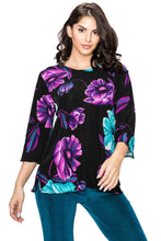 Load image into Gallery viewer, Jostar Women's Stretchy Merrow Top 3/4 Sleeve Print Plus, 158BN-QXP-W099 - Jostar Online