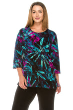 Load image into Gallery viewer, Jostar Women's Stretchy Merrow Top 3/4 Sleeve Print Plus, 158BN-QXP-W101 - Jostar Online