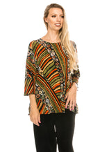 Load image into Gallery viewer, Jostar Women's Stretchy Merrow Top 3/4 Sleeve Print Plus, 158BN-QXP-W160 - Jostar Online