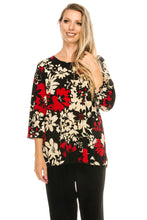 Load image into Gallery viewer, Jostar Women's Stretchy Merrow Top 3/4 Sleeve Print Plus, 158BN-QXP-W161 - Jostar Online