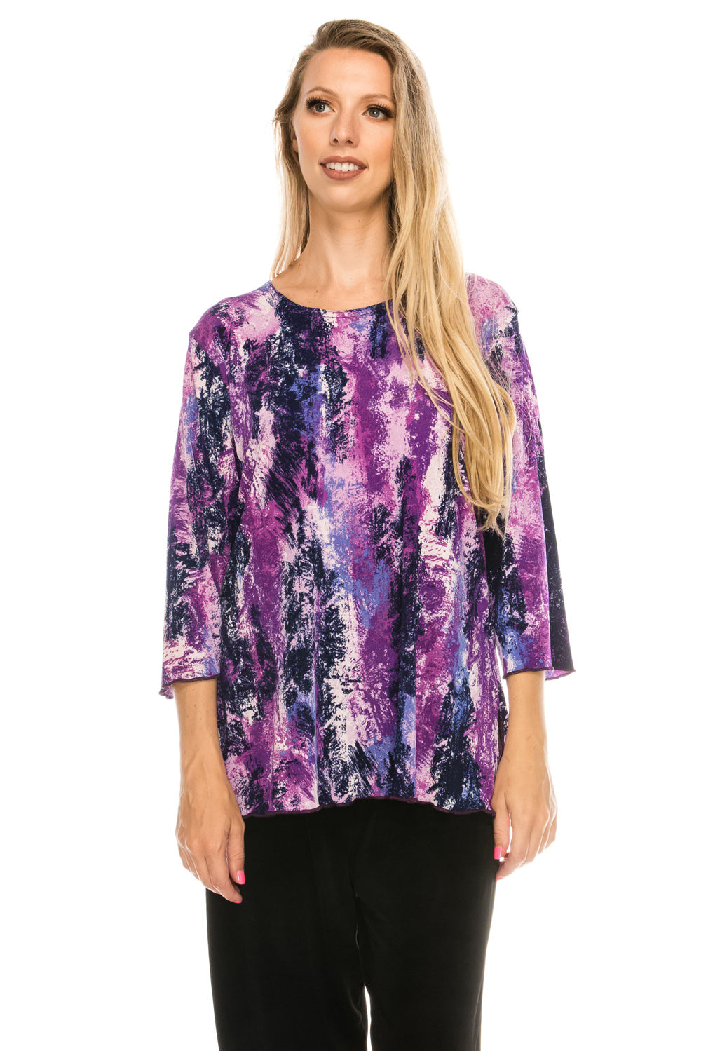 Jostar Women's Stretchy Merrow Top 3/4 Sleeve Print Plus, 158BN-QXP-W170 - Jostar Online