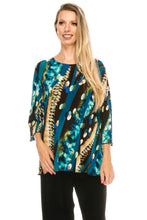 Load image into Gallery viewer, Jostar Women's Stretchy Merrow Top 3/4 Sleeve Print Plus, 158BN-QXP-W175 - Jostar Online