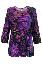 Load image into Gallery viewer, Jostar Women's Stretchy Merrow Top 3/4 Sleeve Print Plus, 158BN-QXP-W207 - Jostar Online