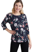 Load image into Gallery viewer, Jostar Women's Stretchy Merrow Top 3/4 Sleeve Print Plus, 158BN-QXP-W211 - Jostar Online