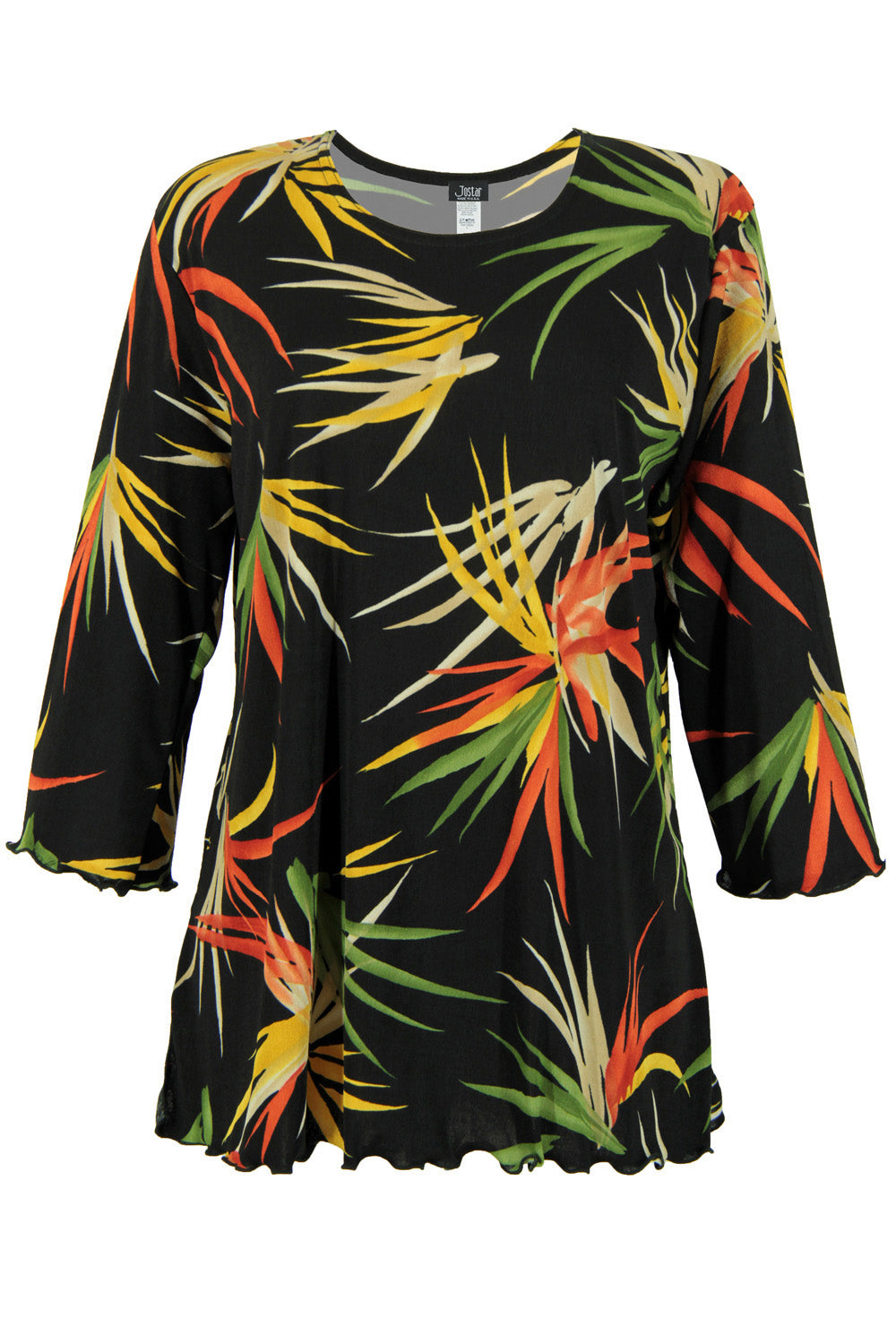 Jostar Women's Stretchy Merrow Top 3/4 Sleeve Print Plus, 158BN-QXP-W679 - Jostar Online