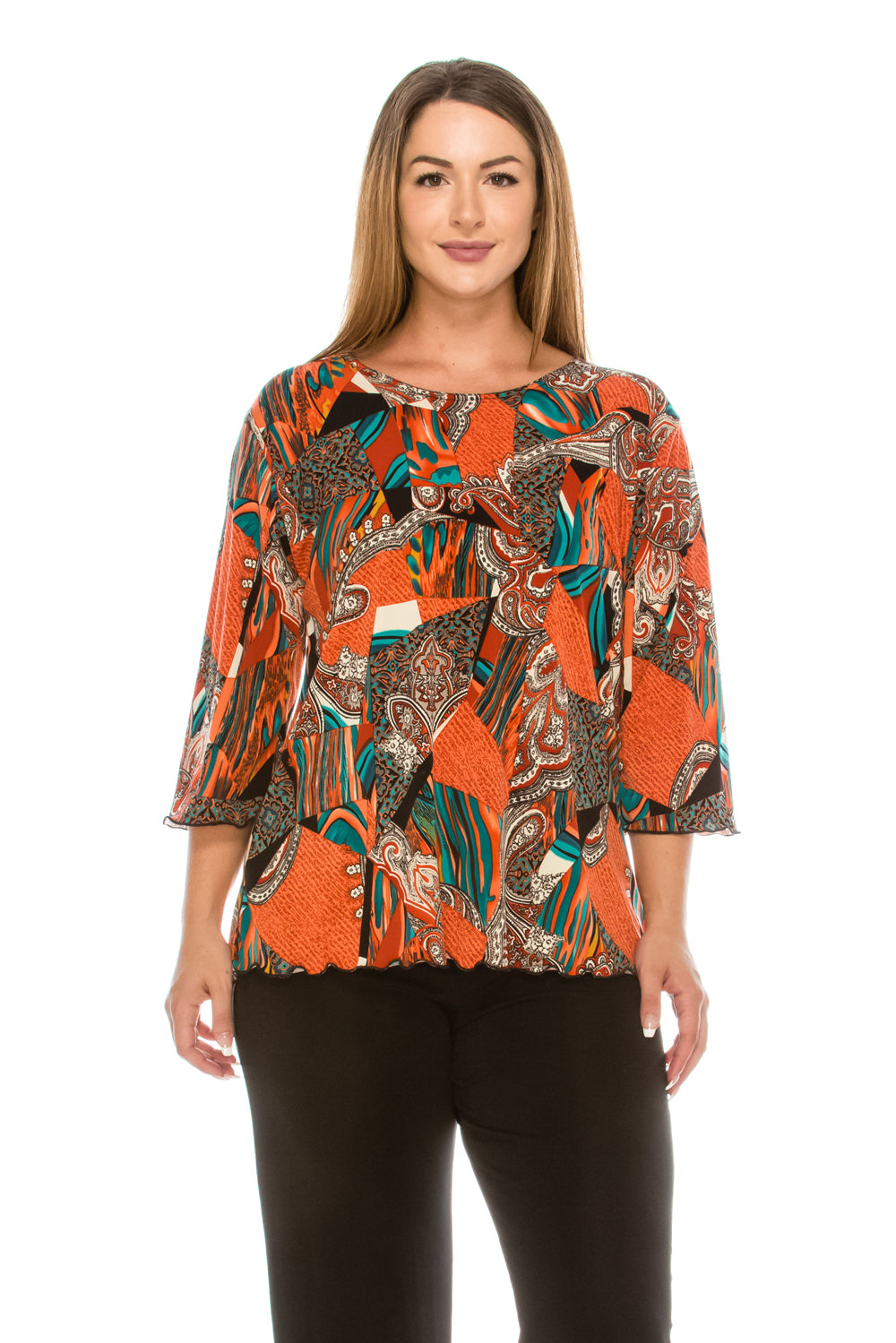 Jostar Women's HIT Merrow Top Three Quarter Print, 158HT-QP-W108 - Jostar Online