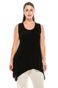 Jostar Women's Non Iron Side Drop Tank Tunic, 230AY-T - Jostar Online