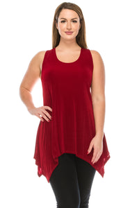 HIT Side Drop Tank Tunic in Plus Size, 230HT-TX - Jostar Online