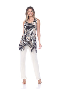 Jostar Women's HIT Side Drop Tank Tunic Print-230HT-TRP1-W009 - Jostar Online