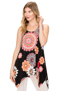 Jostar Women's HIT Side Drop Tank Tunic Print, 230HT-TP-W042 - Jostar Online
