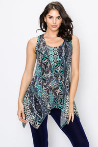Jostar Women's HIT Side Drop Tank Tunic Print, 230HT-TP-W084 - Jostar Online