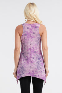 Jostar Women's HIT Side Drop Tank Tunic Print, 230HT-TP-W114 - Jostar Online