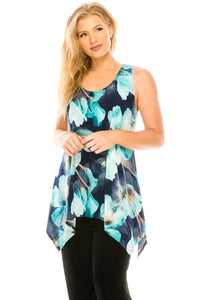 Jostar Women's HIT Side Drop Tank Tunic Print, 230HT-TP-W050 - Jostar Online