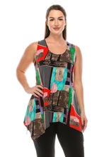 Load image into Gallery viewer, Jostar Women's HIT Side Drop Tank Tunic Print, 230HT-TP-W095 - Jostar Online