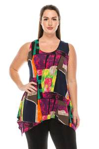 Jostar Women's HIT Side Drop Tank Tunic Print, 230HT-TP-W095 - Jostar Online