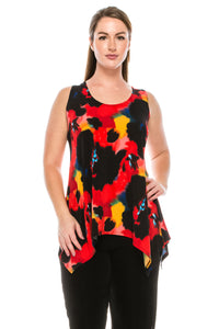 Jostar Women's HIT Side Drop Tank Tunic Print, 230HT-TP-W105 - Jostar Online