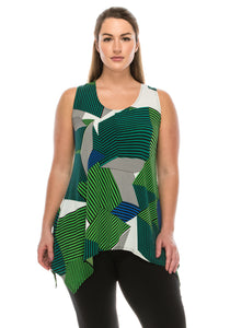 Jostar Women's HIT Side Drop Tank Tunic Print, 230HT-TP-W107 - Jostar Online
