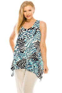 Jostar Women's HIT Side Drop Tank Tunic Print-230HT-TRP1-W193 - Jostar Online
