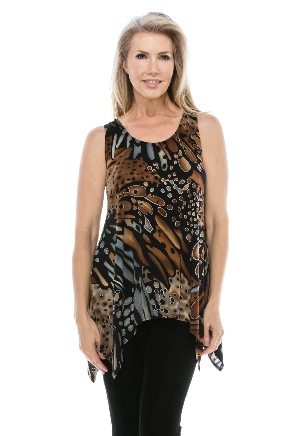 Jostar Women's HIT Side Drop Tank Tunic Print, 230HT-TP-W207 - Jostar Online