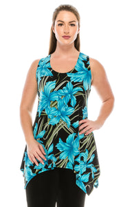 Jostar Women's HIT Side Drop Tank Tunic Print, 230HT-TP-W683 - Jostar Online