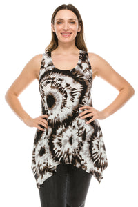 Jostar Women's HIT Side Drop Tank Tunic Plus Print, 230HT-TXP-W808